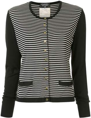 Chanel Pre-Owned 1995 striped cardigan