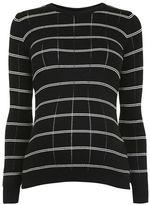 Maternity stripe rib jumper
