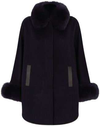 Harrods Fur Collar Cape