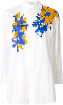 Yohji Yamamoto Paint Splatter-Print Cotton Shirt