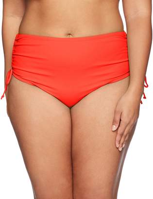 Beach House Woman BEACH HOUSE WOMAN Women's Plus Size Beach Adjustable High Waist Solid Bottom