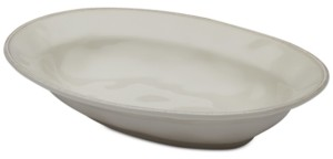 Rachael Ray Cucina Ricotta White Oval Serving Bowl