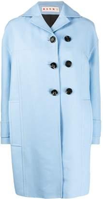 Marni off-set oversized pea coat