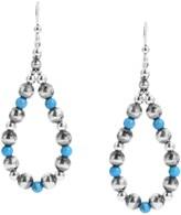 American West Sterling Large Bead Loop Earrings