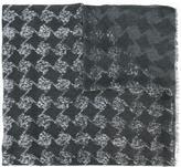 John Varvatos geometric pattern scarf - men - Modal - One Size