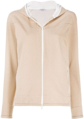 Brunello Cucinelli Zip-Up Long-Sleeved Hoodie
