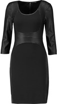 Tart Collections Roxy perforated faux leather and crepe dress