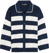 Dolce & Gabbana Striped Silk-jersey Cardigan - Navy