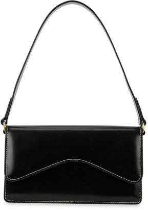 Rylan 6.20 Black Leather Shoulder Bag