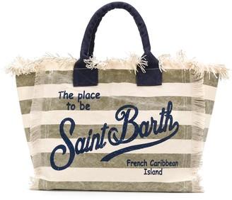 MC2 Saint Barth Striped Print Tote Bag