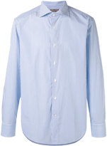 Canali striped long sleeve shirt