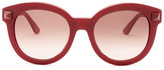 Valentino Women&s Semi oval Stud Sunglasses