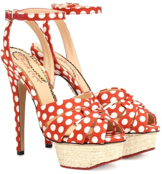 Charlotte Olympia Dolly polka-dot plateau sandals