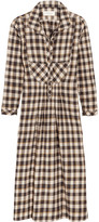 The Great The Popover checked cotton dress