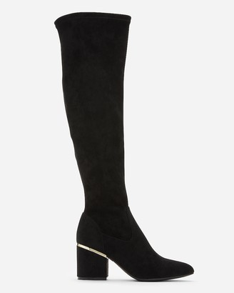Express Soft Over The Knee Heeled Boots