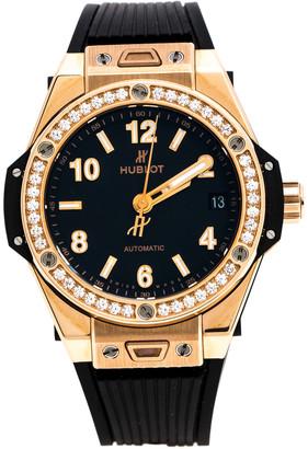 Hublot Black 18K Rose Gold Diamond Big Bang One Click King 465.OX.1180.RX.1204 Women's Wristwatch 39 mm