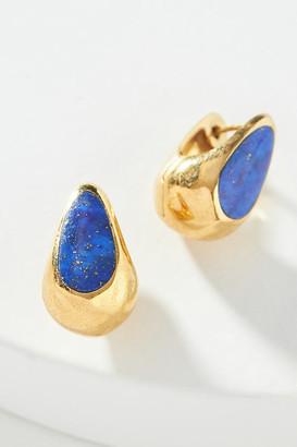 Anthropologie Pamela Love Inlay Huggie Hoop Earrings By in Blue