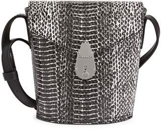 Calvin Klein Snakeskin-Embossed Crossbody Bag