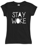 Urban Smalls Black 'Stay Woke' Fitted Tee - Toddler & Girls