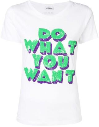 P.A.R.O.S.H. slogan print T-shirt
