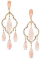 Kate Spade Lantern Gems Crystal Quatrefoil Chanelier Earrings