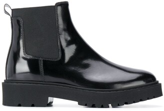 Hogan Patent Leather Chelsea Boots