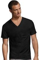 Hanes Men's Dyed ComfortSoft TAGLESS V-Neck Undershirt 4-Pack Men's Shirts
