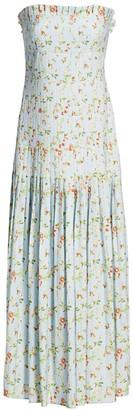 AMUR Hiyori Strapless Ruched Maxi Dress