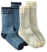 "L.L. Bean Merino Wool Ragg Sock, 10"" Stripe 2-Pack"
