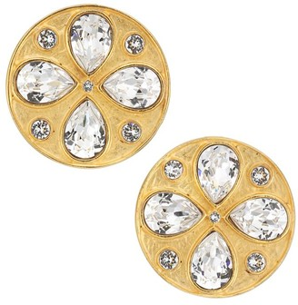 Rebecca De Ravenel Pamina 24K Goldplated & Swarovski Crystal Stud Earrings