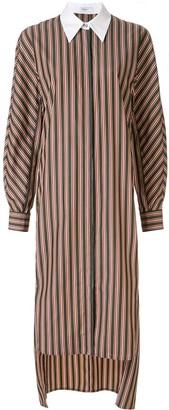 Rosetta Getty Striped Shirt Dress