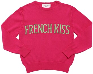 Alberta Ferretti French Kiss Intarsia Knit Sweater