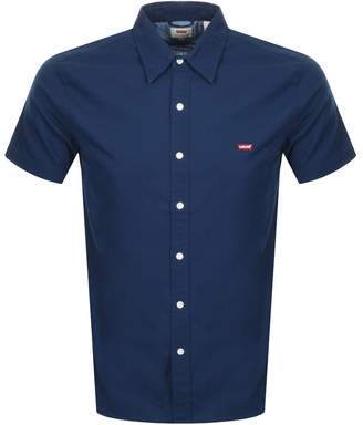 Levi's Levis Short Sleeved Battery Shirt Navy