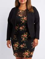 Charlotte Russe Plus Size Lace-Up Back Blazer