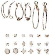 Charlotte Russe Embellished Hoop & Stud Earrings - 12 Pack