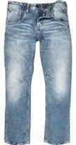 River Island MensLight blue wash Jack & Jones boxy jeans