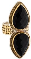 Anna Beck Two-Tone Onyx Double Pear Cocktail Ring