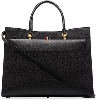 Thom Browne Pebbled Large Duet Tote