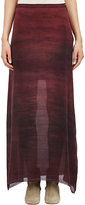 Raquel Allegra WOMEN'S WASHED CHIFFON SKIRT-PURPLE SIZE 0