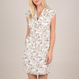 Molly Bracken Short Wrapover Dress in Floral Print