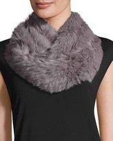 Jocelyn Rabbit Fur Infinity Scarf, Lavender