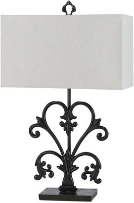 Cal Lighting Calighting 3-Way Murcia Cast Iron Table Lamp