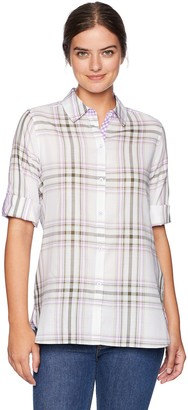 Foxcroft Women's Tamara Herringbone Plaid