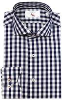 Lorenzo Uomo Trim Fit Gingham Dress Shirt