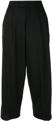 Y's High-Waist Cropped Trousers