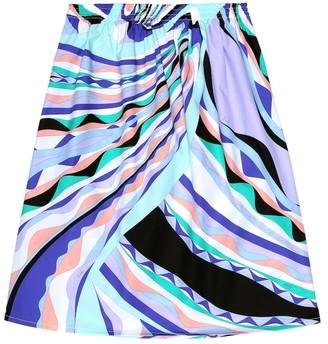 Emilio Pucci Kids Printed cotton poplin skirt