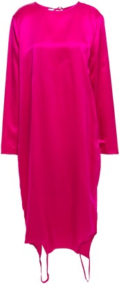 Marques Almeida Marques' Almeida Asymmetric Cutout Satin-crepe Dress