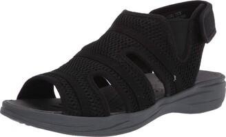 Easy Street Shoes Womens Happy Flat Sandal Triathlon Red/Vector Red/Flash red 11 Medium US