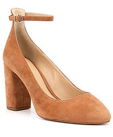 Gianni Bini Sylviaa Suede Ankle Strap Pumps