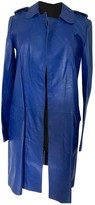 Hotel Particulier Blue Leather Coat for Women